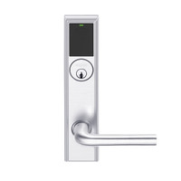 LEMS-ADD-P-02-625 Schlage Storeroom Wireless Addison Mortise Lock with LED and 02 Lever in Bright Chrome