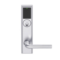 LEMS-ADD-P-02-626AM Schlage Storeroom Wireless Addison Mortise Lock with LED and 02 Lever in Satin Chrome Antimicrobial
