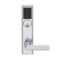 LEMB-ADD-P-01-626AM Schlage Privacy/Office Wireless Addison Mortise Lock with Push Button, LED and 01 Lever in Satin Chrome Antimicrobial