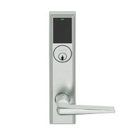 LEMB-ADD-P-05-619 Schlage Privacy/Office Wireless Addison Mortise Lock with Push Button, LED and 05 Lever in Satin Nickel