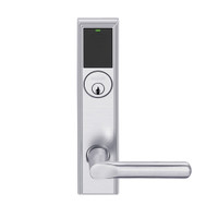 LEMB-ADD-P-18-626AM Schlage Privacy/Office Wireless Addison Mortise Lock with Push Button, LED and 18 Lever in Satin Chrome Antimicrobial