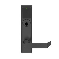 LEMS-ADD-L-06-622 Schlage Less Mortise Cylinder Storeroom Wireless Addison Mortise Lock with LED and Rhodes Lever in Matte Black