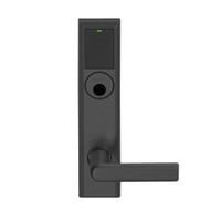 LEMS-ADD-L-01-622 Schlage Less Mortise Cylinder Storeroom Wireless Addison Mortise Lock with LED and 01 Lever in Matte Black