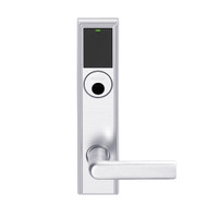 LEMS-ADD-L-01-625 Schlage Less Mortise Cylinder Storeroom Wireless Addison Mortise Lock with LED and 01 Lever in Bright Chrome