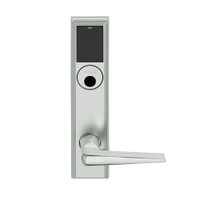 LEMB-ADD-L-05-619 Schlage Less Mortise Cylinder Privacy/Office Wireless Addison Mortise Lock with Push Button, LED and 05 Lever in Satin Nickel