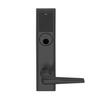 LEMB-ADD-L-05-622 Schlage Less Mortise Cylinder Privacy/Office Wireless Addison Mortise Lock with Push Button, LED and 05 Lever in Matte Black