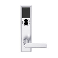 LEMS-ADD-J-01-625 Schlage Storeroom Wireless Addison Mortise Lock with LED and 01 Lever Prepped for FSIC in Bright Chrome