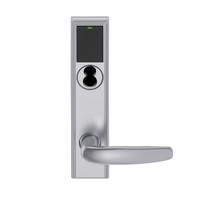 LEMB-ADD-J-07-626 Schlage Privacy/Office Wireless Addison Mortise Lock with Push Button, LED and Athens Lever Prepped for FSIC in Satin Chrome