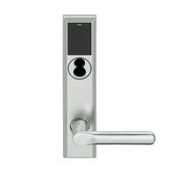 LEMB-ADD-J-18-619 Schlage Privacy/Office Wireless Addison Mortise Lock with Push Button, LED and 18 Lever Prepped for FSIC in Satin Nickel