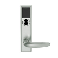 LEMB-ADD-BD-07-619 Schlage Privacy/Office Wireless Addison Mortise Lock with Push Button, LED and Athens Lever Prepped for SFIC in Satin Nickel
