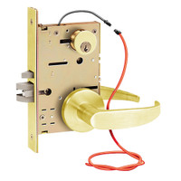 Z7852LRCG SDC Z7800 Selectric Pro Series Locked Outside Sides Failsecure Electric Mortise Lock in Bright Brass