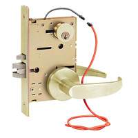 Z7852LRDG SDC Z7800 Selectric Pro Series Locked Outside Sides Failsecure Electric Mortise Lock in Satin Brass