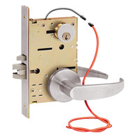 Z7852RRUG SDC Z7800 Selectric Pro Series Locked Outside Sides Failsecure Electric Mortise Lock in Satin Stainless Steel
