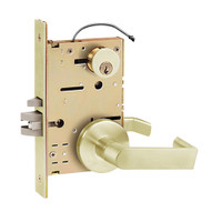 Z7832LRDE SDC Z7800 Selectric Pro Series Locked Both Sides Failsecure Electric Mortise Lock with Eclipse Lever in Satin Brass