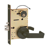Z7852LRHE SDC Z7800 Selectric Pro Series Locked Outside Sides Failsecure Electric Mortise Lock with Eclipse Lever in Oil Rubbed Bronze