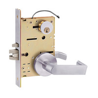 Z7852RRUE SDC Z7800 Selectric Pro Series Locked Outside Sides Failsecure Electric Mortise Lock with Eclipse Lever in Satin Stainless Steel