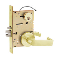 Z7852RRCE SDC Z7800 Selectric Pro Series Locked Outside Sides Failsecure Electric Mortise Lock with Eclipse Lever in Bright Brass
