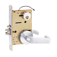 Z7852RRPE SDC Z7800 Selectric Pro Series Locked Outside Sides Failsecure Electric Mortise Lock with Eclipse Lever in Bright Chrome
