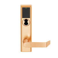 LEMB-ADD-BD-06-612 Schlage Privacy/Office Wireless Addison Mortise Lock with Push Button, LED and Rhodes Lever Prepped for SFIC in Satin Bronze