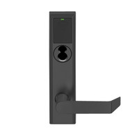 LEMB-ADD-BD-06-622 Schlage Privacy/Office Wireless Addison Mortise Lock with Push Button, LED and Rhodes Lever Prepped for SFIC in Matte Black