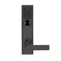 LEMB-ADD-BD-01-622 Schlage Privacy/Office Wireless Addison Mortise Lock with Push Button, LED and 01 Lever Prepped for SFIC in Matte Black