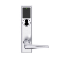 LEMB-ADD-BD-05-625 Schlage Privacy/Office Wireless Addison Mortise Lock with Push Button, LED and 05 Lever Prepped for SFIC in Bright Chrome