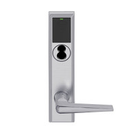 LEMB-ADD-BD-05-626 Schlage Privacy/Office Wireless Addison Mortise Lock with Push Button, LED and 05 Lever Prepped for SFIC in Satin Chrome