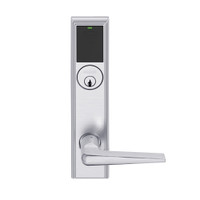 LEMD-ADD-P-05-626AM Schlage Privacy/Apartment Wireless Addison Mortise Deadbolt Lock with LED and 05 Lever in Satin Chrome Antimicrobial