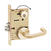 Z7852LRGN SDC Z7800 Selectric Pro Series Locked Outside Sides Failsecure Electric Mortise Lock with Nova Lever in Satin Bronze