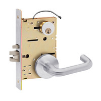 Z7852LRQN SDC Z7800 Selectric Pro Series Locked Outside Sides Failsecure Electric Mortise Lock with Nova Lever in Satin Chrome