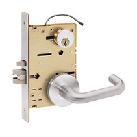 Z7852RRUN SDC Z7800 Selectric Pro Series Locked Outside Sides Failsecure Electric Mortise Lock with Nova Lever in Satin Stainless Steel