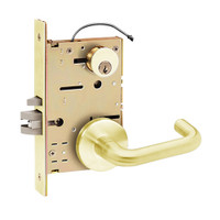 Z7852RRCN SDC Z7800 Selectric Pro Series Locked Outside Sides Failsecure Electric Mortise Lock with Nova Lever in Bright Brass