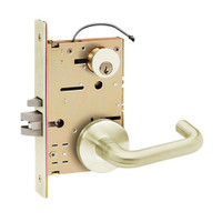 Z7852RRDN SDC Z7800 Selectric Pro Series Locked Outside Sides Failsecure Electric Mortise Lock with Nova Lever in Satin Brass