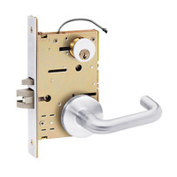Z7852RRPN SDC Z7800 Selectric Pro Series Locked Outside Sides Failsecure Electric Mortise Lock with Nova Lever in Bright Chrome
