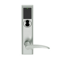 LEMD-ADD-J-12-619-LH Schlage Privacy/Apartment Wireless Addison Mortise Deadbolt Lock with LED and 12 Lever Prepped for FSIC in Satin Nickel