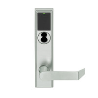 LEMD-ADD-BD-06-619 Schlage Privacy/Apartment Wireless Addison Mortise Deadbolt Lock with LED and Rhodes Lever Prepped for SFIC in Satin Nickel
