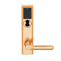 LEMD-ADD-BD-18-612 Schlage Privacy/Apartment Wireless Addison Mortise Deadbolt Lock with LED and 18 Lever Prepped for SFIC in Satin Bronze