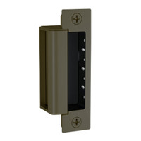 1600-CDB-613E Hes 1600 Series Dynamic Low Profile Electric Strike for Deadbolt Lock in Dark Oxidized Satin Bronze