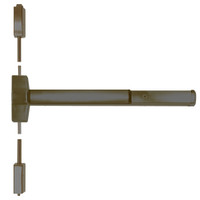 ED5400-613-MELR-M92 Corbin ED5400 Series Non Fire Rated Vertical Rod Exit Device with Motor Latch Retraction and Touchbar Monitoring in Oil Rubbed Bronze Finish