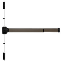 TSFL5203LBR-695-36 PHI 5000 Series Fire Rated Reliant Surface Vertical Rod Device Prepped for Key Retracts Latchbolt in Dark Bronze Powder Coat Finish