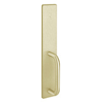 1702C-606 PHI Dummy Trim with C Design Pull for Exit Only Apex and Olympian Series Exit Device in Satin Brass Finish