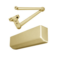 D-4550AVBEDA-696 Stanley D-4550 Surface Closers with Heavy Duty Parallel Arm in Satin Brass Painted Finish