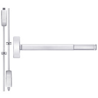 TSFL2214LBR-625-48 PHI 2200 Series Apex Surface Vertical Rod Device with Touchbar Monitoring Switch Prepped for Lever-Knob Always Active in Bright Chrome Finish