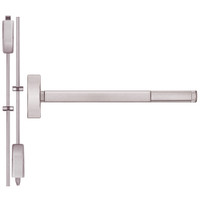 TSFL2214LBR-628-48 PHI 2200 Series Apex Surface Vertical Rod Device with Touchbar Monitoring Switch Prepped for Lever-Knob Always Active in Satin Aluminum Finish