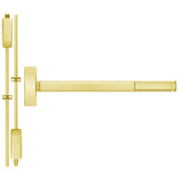 TSFL2215LBR-605-48 PHI 2200 Series Apex Surface Vertical Rod Device with Touchbar Monitoring Switch Prepped for Thumb Piece Always Active in Bright Brass Finish