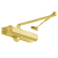 D-1611-696 Stanley D-1611 Surface Closers with Standard Parallel and Top Jamb Arm in Satin Brass Painted Finish
