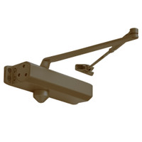 D-1610FC-690 Stanley D-1610 Surface Closers with Standard Parallel and Top Jamb Arm with Full Cover in Statuary Bronze Finish
