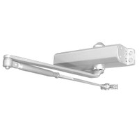 D-1610FCL-689 Stanley D-1610 Surface Closers with Long Rod Forearm Top Jamb Arm with Full Cover in Aluminum Painted Finish