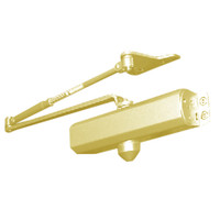 D-1611SECPH-696 Stanley D-1611 Surface Closers Hold Open Parallel Arm with Security Screws in Satin Brass Painted Finish