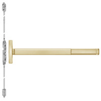 TSFL2608LBR-606-48 PHI 2600 Series Fire Rated Concealed Vertical Rod Exit Device with Touchbar Monitoring Switch Prepped for Key Controls Lever in Satin Brass Finish